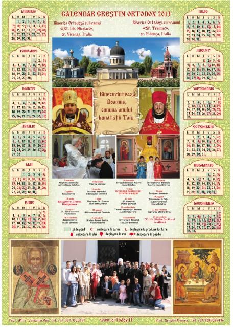 calendar 2013 it